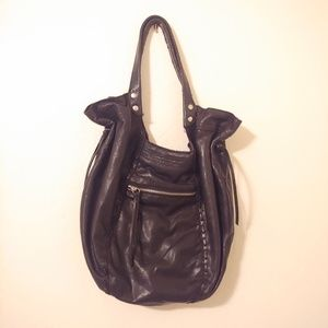 Lucky Brand Italian lambskin leather hobo.